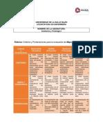 Rubrica para evaluación de Tareas y Proyectos Anatomía y Fisiología I