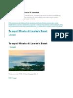 Lokasi Tempat Wisata Di Lombok