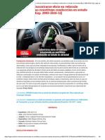 [Atipicidad] Encontrarse Ebrio en Vehículo Estacionado No Constituye Conducción en Estado de Ebriedad [Exp. 2993-2016-12] _ Legis.pe