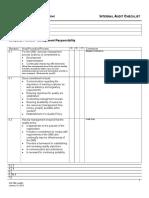 Vv Internal Audit Checklist Management Responsibility