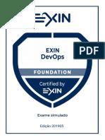 Exame Simulado EXIN DevOps Foundation