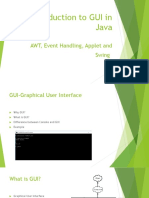 Java GUI, AWT,Applet,Swing