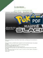 Pokemon Kanto Black GBA Cheat