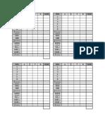 Za jamb stampanje tabela Podešavanje štampe