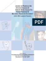 Oral Health Oro-Dental Problem WHO Project Guidelines