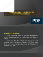Cognitive Domain-Arlie g. Fresnido
