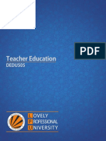 Dedu505 Teacher Education Hindi