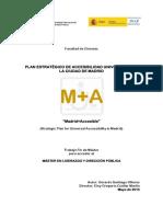 """Plan estratégico de accesibilidad universal para la ciudad de Madrid """"Madrid+Accesible"""""""