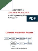 Lec 5b 4 Concrete Production