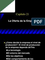 13.La Oferta de La Empresa (Varian, Cap. 21)
