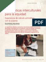 Matemáticas interculturales para la equidad (Uno)