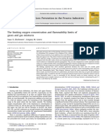 The limiting oxygen concentration and flammability limits of gases and gas mixtures