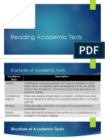 Reading Academic Texts