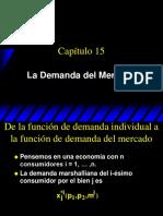 8.La Demanda Del Mercado (Varian, Cap. 15)