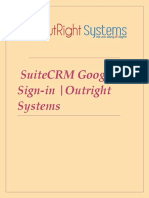 SuiteCRM Google Sign-IN | Gmail Account |Outright Store