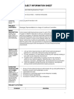 Project Information Sheet for Home-based Matching Business