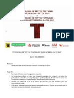 Bases Premios Textos Teatrales Fatex 2019