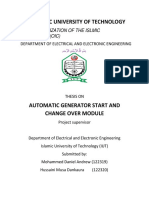 Automatic Generator Start and Change Over Module