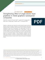 Strengthening Effect of Single-Atomic-layer Graphene in Metal–Graphene Nanolayered Composites
