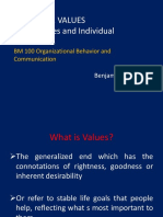 Chapter 2 - Culture & Values; Personalities & Individual Differences