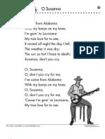 Song Sheet o Susanna