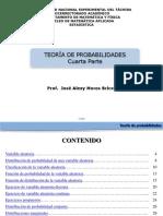 4. Variables Aleatorias,Clasificación, Funciones, Esperanza Matematica, Varianza, Teorema de Chebyshev