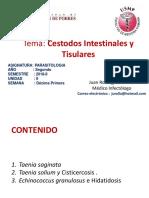 Cestodos Intestinales y Tisulares i