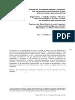 ALMENDROS Y ECHEVERRÍA Ingenierías, sociedades digitales e infoesfera. Una interpretación de la filosofía y la ética de la información de Luciano Floridi