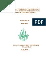 Ali Ahmad Roll No. Bp612093