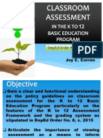 Assessment and Grading System K to 12 BEP DepEd # 8, s. 2015