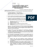 Affidavit of Informed Consent, Waiver and Undertaking of Compliance to the Minimum Qualification Standards and Requirements