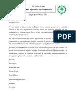 Sample Survey Cover Letter