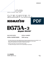 Komatsu D575-A3 Super Dozer Shop Manual Seb d 022001