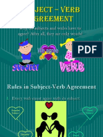 Subject Verbagreement1 RULES 1 15 1