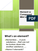 Element vs Compound mini Lesson.pptx