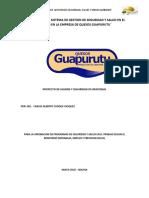 Diagnostico de Seguridad y Salud en Trabajo Quesos Guapurutu