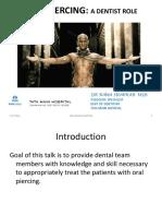 Oral Piercing Ppt