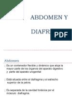 Anatomía de Abdomen y Diafragma