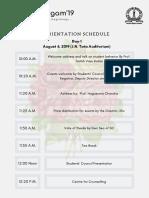Sangam'19 Schedule (5 Days)