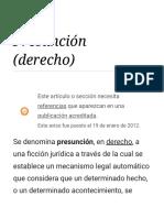 Presunción (Derecho)