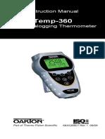 Manual Temp 360 Rtd Data Logging