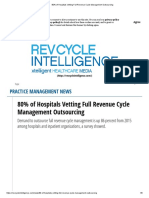 80% of Hospitals Vetting Full Revenue Cycle Management Outsourcing