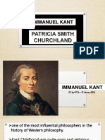 Emmanuel Kant and Patricia Churchland perception of self