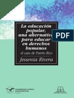 Educación popular, una alternativa para educar en Derechos Humanos.
