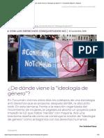"""Soledad Deza - ¿de Dónde Viene La """"Ideología de Género"""""""