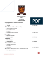 Agriculture p1 Marking Scheme