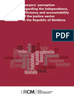 Lawyers' perception regarding the independence, efficiency and accountability of the justice sector in the Republic of Moldova