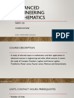Course Outline - Advanced Engineering Mathematics