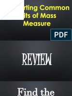 Converting Common Units of Mass Measure