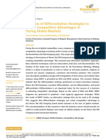 Differentiation Strategy of Marketing Towards Competitive Advantages